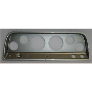 """64-66 Chevy Truck Silver Dash Carrier Panel for 3-3/8"""", 2-1/16"""" Gauges"""
