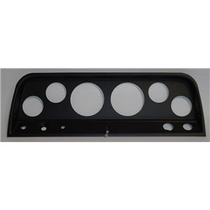 """64-66 Chevy Truck Black Dash Carrier Panel for 3-3/8"""", 2-1/16"""" Gauges"""