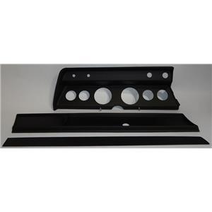 "66 Chevelle Black Dash Carrier Panel for 3-3/8"", 2-1/16"" Gauges"