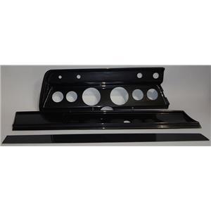 "66 Chevelle Carbon Dash Carrier Panel for 3-3/8"", 2-1/16"" Gauges"