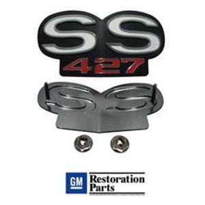 "67-68 Camaro RS SS / 68-69 Nova SS Grill Grille Emblem ""SS 427"" EM01-674"
