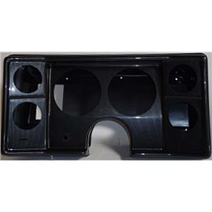 """82-88 Chevy G Body Carbon Dash Carrier Panel for 5"""", 2-5/8"""" Gauges"""