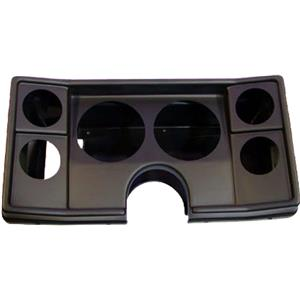 """78-81 Chevy G Body Black Dash Carrier Panel for 5"""", 2-5/8"""" Gauges"""