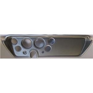 """67 GTO Silver Dash Carrier Panel for 3-3/8"""", 2-1/16"""" Gauges"""