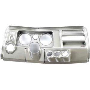 """69 Chevelle Silver Dash Carrier Panel w/ Astro for 5"""", 2-1/16"""" Gauges"""