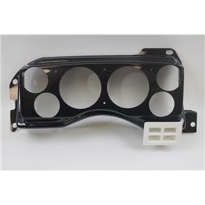 """87-89 Mustang Carbon Dash Carrier Panel for 3-3/8"""", 2-1/16"""" Gauges"""