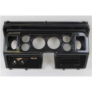"""80-86 Ford Trucks Carbon Dash Carrier Panel for 3-3/8"""" - 2-1/16"""" Gauges"""