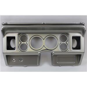 80-86 Ford Truck Silver Dash Panel for Aftermarket Gauges
