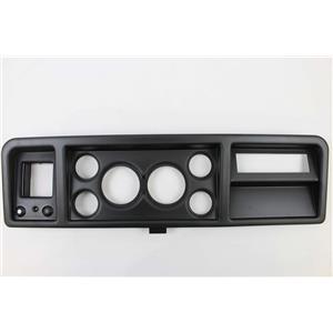 """73-79 Ford Trucks Black Dash Carrier Panel for 3-3/8"""" - 2-1/16"""" Gauges"""