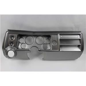 """68 Chevelle Silver Dash Carrier Panel for 3-3/8"""" - 2-1/16"""" Gauges"""