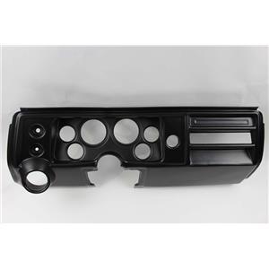 "68 Chevelle Black Dash Carrier Panel for 3-3/8"" - 2-1/16"" Gauges"