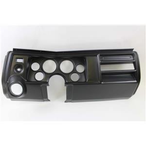 "69 Chevelle Black Dash Carrier Panel for 3-3/8"" - 2-1/16"" Gauges"
