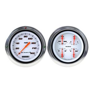 1954-1955 Chevrolet Chevy Truck Direct Fit Gauge Velocity White CT54VSW52