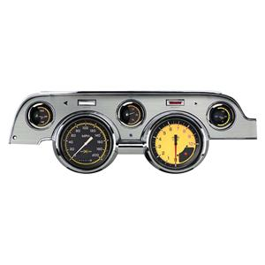 1967-1968 Ford Mustang Direct Fit Gauge Auto Cross Yellow MU67AXYBA