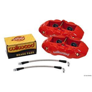 Wilwood D8-4 Rear Caliper Kit 65-82 Chevy Corvette Red Powdercoat