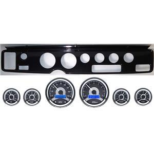 70-81 Firebird Carbon Dash Carrier Panel w/ Dakota Digital VHX Universal 6 Gauge