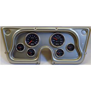 67-72 GM Truck Silver Dash Carrier w/Auto Meter Cobalt Gauges
