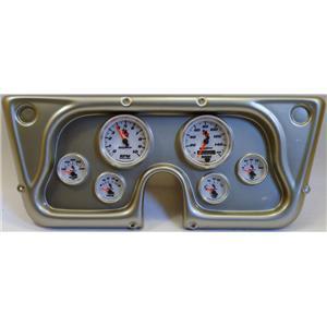 67-72 GM Truck Silver Dash Carrier w/Auto Meter C2 Gauges