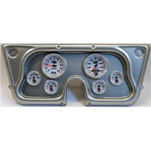 67-72 GM Truck Silver Dash Carrier w/Auto Meter NV Gauges