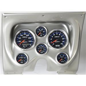 67 68 Firebird Silver Dash Carrier w/Auto Meter Cobalt Gauges