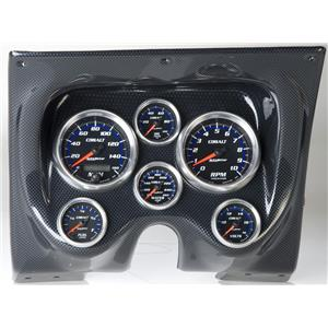 67 68 Firebird Carbon Dash Carrier w/Auto Meter Cobalt Gauges