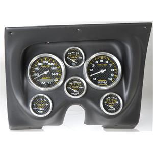 67 68 Firebird Black Dash Carrier w/Auto Meter Carbon Fiber Gauges
