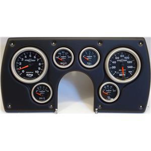 82-89 Camaro Black Dash Carrier w/Auto Meter Sport Comp II Gauges