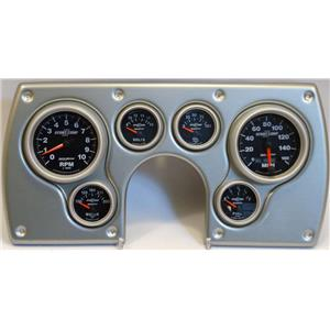82-89 Camaro Silver Dash Carrier w/Auto Meter Sport Comp II Gauges