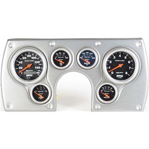 82-89 Camaro Silver Dash Carrier w/Auto Meter Sport Comp Electric Gauges