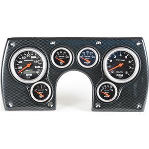 82-89 Camaro Carbon Dash Carrier w/Auto Meter Sport Comp Electric Gauges