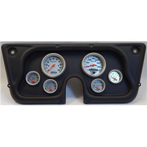 67-72 GM Truck Black Dash Carrier w/Auto Meter Ultra Lite Electric Gauges