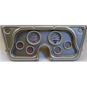 67-72 GM Truck Silver Dash Carrier w/Auto Meter Ultra Lite Electric Gauges