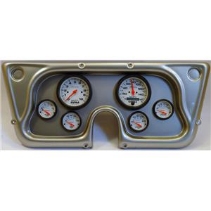 67-72 GM Truck Silver Dash Carrier w/Auto Meter Phantom Electric Gauges