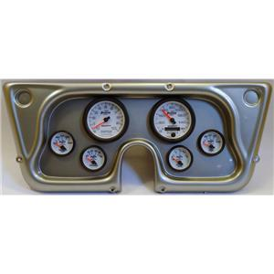 67-72 GM Truck Silver Dash Carrier w/Auto Meter Phantom II Gauges