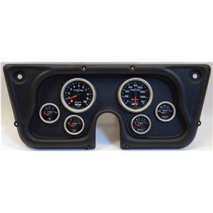 67-72 GM Truck Black Dash Carrier w/Auto Meter Sport Comp II Gauges