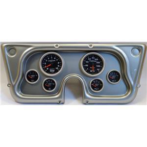 67-72 GM Truck Silver Dash Carrier w/Auto Meter Sport Comp II Gauges