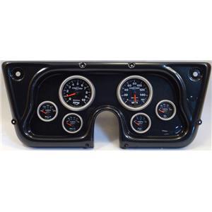67-72 GM Truck Carbon Dash Carrier w/Auto Meter Sport Comp II Gauges