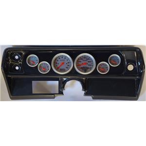 68 Nova Carbon Dash Carrier w/Auto Meter Ultra Lite Electric Gauges