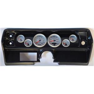 68 Nova Carbon Dash Carrier w/Auto Meter Ultra Lite II Gauges