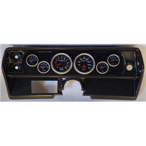68 Nova Carbon Dash Carrier w/Auto Meter Sport Comp II Gauges