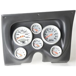 67 68 Firebird Black Dash Carrier w/Auto Meter Ultra Lite Electric Gauges