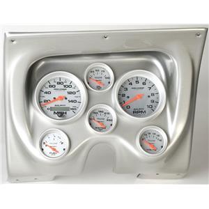 67 68 Firebird Silver Dash Carrier w/Auto Meter Ultra Lite Electric Gauges