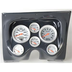67 68 Firebird Carbon Dash Carrier w/Auto Meter Ultra Lite Electric Gauges