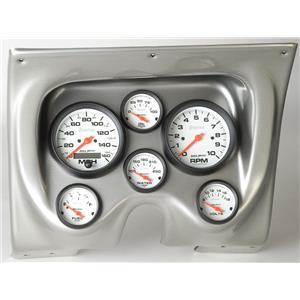 67 68 Firebird Silver Dash Carrier w/Auto Meter Phantom Electric Gauges