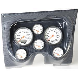 67 68 Firebird Carbon Dash Carrier w/Auto Meter Phantom Electric Gauges