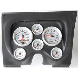 67 68 Firebird Black Dash Carrier w/Auto Meter Ultra Lite II Gauges