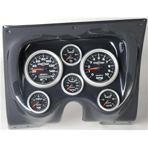 67 68 Firebird Carbon Dash Carrier w/Auto Meter Sport Comp II Gauges
