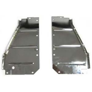 56 CHEVY BEL AIR RADIATOR CORE SUPPORT SIDE FILLER PANELS CHROME PAIR CS13-56PC