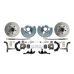 "Mopar A Body High Perf Disc Brake Kit 5x4.5"" Bolt Pat 11"" DS Rotor Red Caliper"