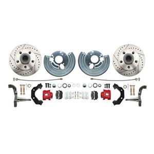 "Mopar B E Body High Performance Disc Brake Kit 11"" DS Rotor Red Caliper"